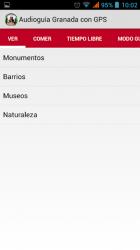 Captura de Pantalla 3 de Audioguia Granada con GPS para android