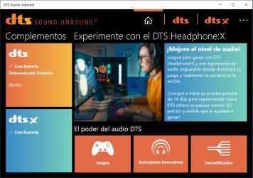 Screenshot 2 de DTS Sound Unbound para windows