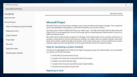 Captura de Pantalla 1 de Tutorial Microsoft Project for beginners para windows