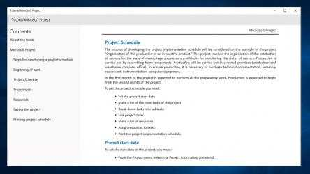 Screenshot 2 de Tutorial Microsoft Project for beginners para windows