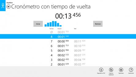 Captura de Pantalla 8 de Cronómetro: StopNow Free para windows