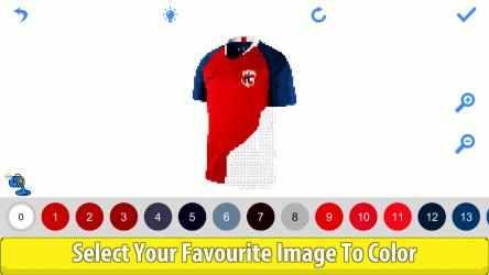 Captura de Pantalla 13 de Football Shirts Color by Number:Pixel Art Coloring para windows