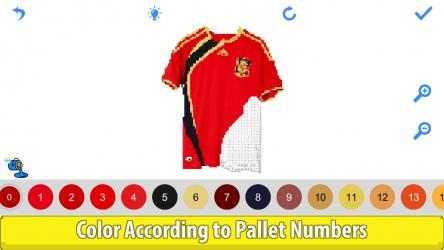 Captura de Pantalla 14 de Football Shirts Color by Number:Pixel Art Coloring para windows