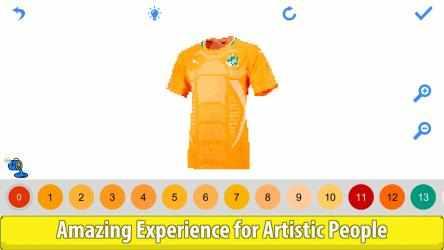 Captura 10 de Football Shirts Color by Number:Pixel Art Coloring para windows