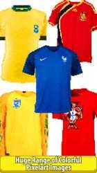 Screenshot 8 de Football Shirts Color by Number:Pixel Art Coloring para windows