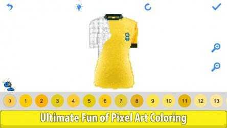 Captura de Pantalla 12 de Football Shirts Color by Number:Pixel Art Coloring para windows