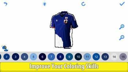 Screenshot 11 de Football Shirts Color by Number:Pixel Art Coloring para windows