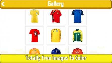 Captura de Pantalla 9 de Football Shirts Color by Number:Pixel Art Coloring para windows