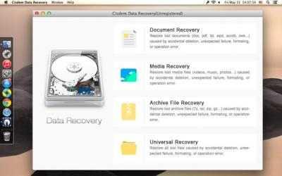 Screenshot 1 de Cisdem DataRecovery para mac