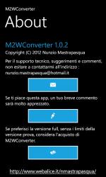 Captura de Pantalla 4 de M2WConverter para windows