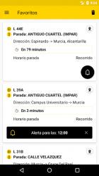Screenshot 2 de Autobuses LAT Murcia para android