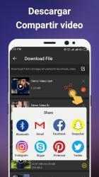 Captura de Pantalla 5 de Descargador de videos gratis para android