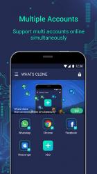Captura 2 de Whats Clone App - varias cuentas para WhatsApp para android