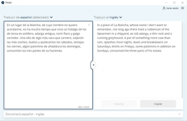 Captura 2 de Deepl para windows