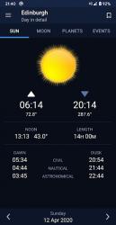 Screenshot 2 de Sundroid: Sunrise and Sunset para android