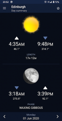 Captura de Pantalla 4 de Sundroid: Sunrise and Sunset para android