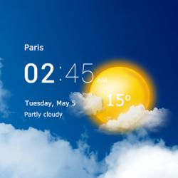 Captura 1 de Reloj y clima transparente para android