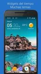 Screenshot 2 de Reloj y clima transparente para android