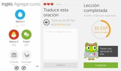 Screenshot 1 de Duolingo para windows