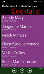 Screenshot 1 de Bartenders Cocktails Recipes para windows