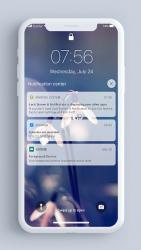 Screenshot 6 de Pantalla de bloqueo y notificaciones iOS 14 para android