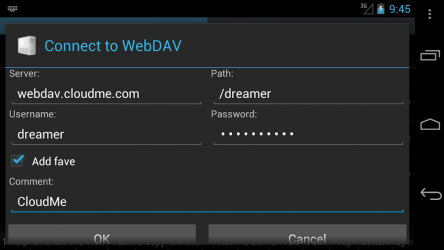 Captura 3 de WebDAV for Ghost Commander para android