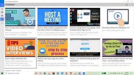 Captura de Pantalla 2 de Zoom Meetings App Guide para windows