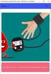 Captura 1 de Blood Pressure App Free Download - Diet Plan to Lower Blood Pressure para windows