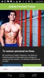 Screenshot 2 de Andrés Vázquez: Entrenador Personal para android