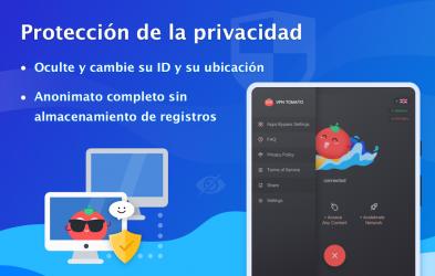 Captura 11 de VPN Tomato gratis | Veloz proxy VPN hotspot gratis para android