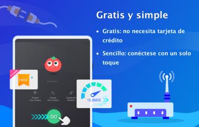 Screenshot 8 de VPN Tomato gratis | Veloz proxy VPN hotspot gratis para android