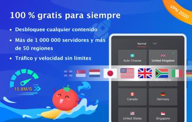 Screenshot 12 de VPN Tomato gratis | Veloz proxy VPN hotspot gratis para android