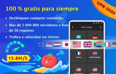 Captura 2 de VPN Tomato gratis | Veloz proxy VPN hotspot gratis para android