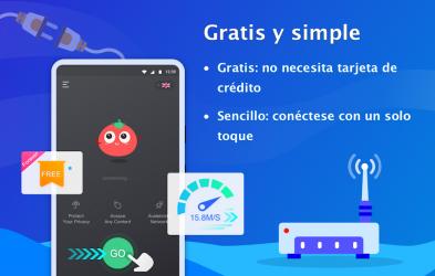 Screenshot 3 de VPN Tomato gratis | Veloz proxy VPN hotspot gratis para android