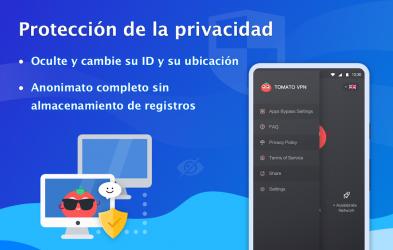 Captura 6 de VPN Tomato gratis | Veloz proxy VPN hotspot gratis para android