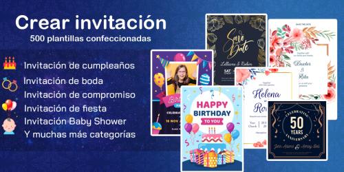 Captura de Pantalla 2 de Crear invitaciones 2020 cumpleaños, boda, tarjetas para android