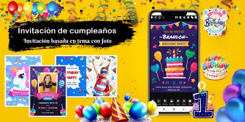 Captura de Pantalla 7 de Crear invitaciones 2020 cumpleaños, boda, tarjetas para android