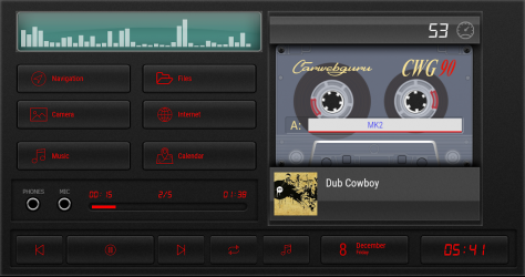 Screenshot 5 de Cassette - theme for CarWebGuru launcher para android
