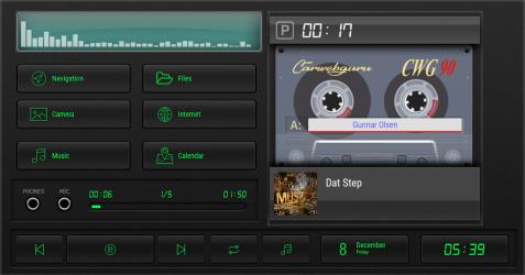 Captura de Pantalla 4 de Cassette - theme for CarWebGuru launcher para android