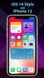 Captura 3 de Phone 12 Launcher, OS 14 iLauncher, Control Center para android