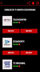 Captura de Pantalla 4 de Canales EC - Televisión Ecuatoriana Gratis para android