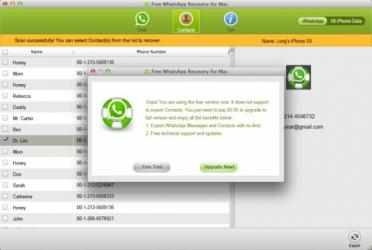 Screenshot 1 de Free WhatsApp Recovery for Mac para mac