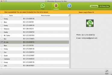 Captura 4 de Free WhatsApp Recovery for Mac para mac