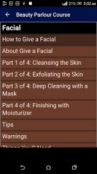 Captura de Pantalla 5 de Beauty Parlour Complete Course para android