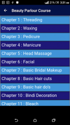 Captura 2 de Beauty Parlour Complete Course para android