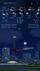 Screenshot 7 de Clima preciso 🌈 YoWindow + Fondos de pantalla para android
