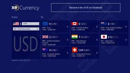 Captura de Pantalla 1 de XE Currency para windows