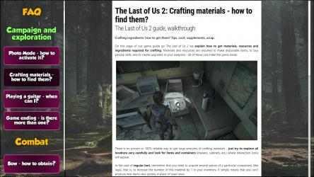 Captura 5 de The Last Of Us 2 Guide of Game para windows