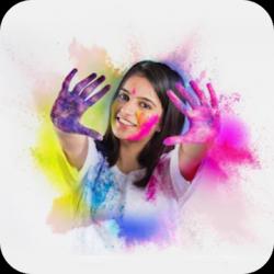 Screenshot 1 de Happy Holi 2020,Holi Dp maker,Holi photo editor para android