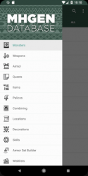 Captura 2 de MHGen Database para android